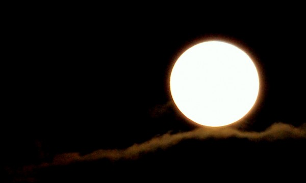 A supermoon was seen over Gouldsboro's West Bay on Saturday, May 5, 2012.