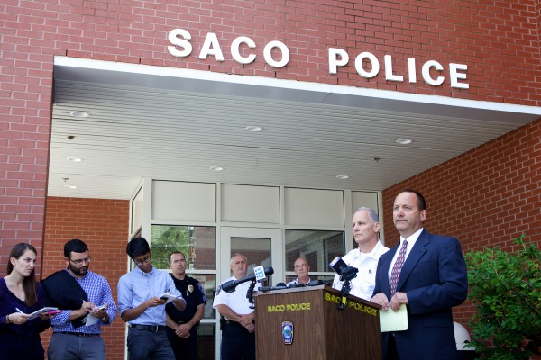 Sgt. Chris Harriman of the Maine State Police confirms the identities of the victims found slain in Saco on Sunday at a press conference Monday afternoon. He said 33-year-old Joel Smith shot and killed his wife and three children before killing himself on Saturday night in their apartment on Water Street.