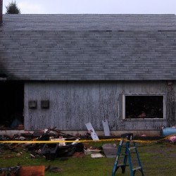 Construction light left on causes fire that gutted Dedham home
