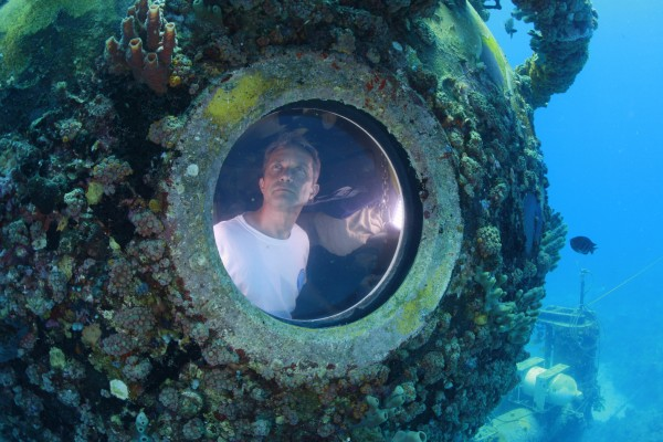 Fabien Cousteau is pictured inside the marine laboratory Aquarius in this undated handout photo obtained by Reuters on Wednesday.
