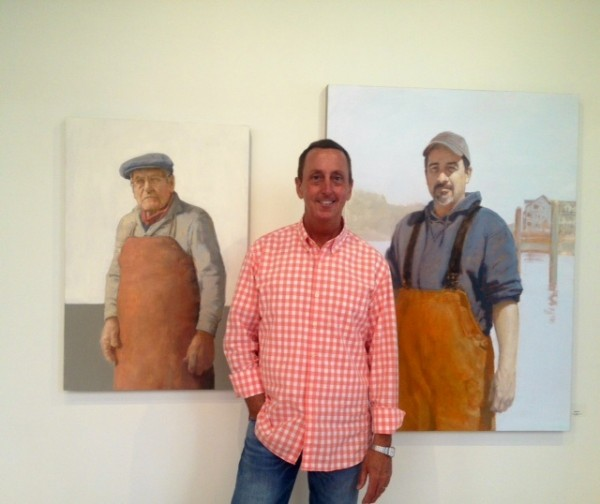 Jack Leonardi is managing partner of the new Portland Art Gallery on Middle Street. Portraits by Maine artists, including David Edward Allen (shown here), fill the space.