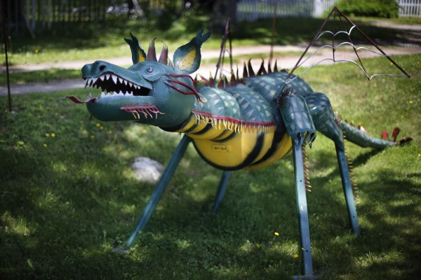 This one-of-a-kind dragon lives in St. George, Maine.