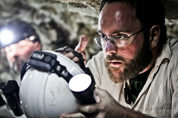Mainers Bill Brock (right) and Casey Onik explore a cave during an episode of the soon-to-be aired series &quotMonsters Underground.&quot