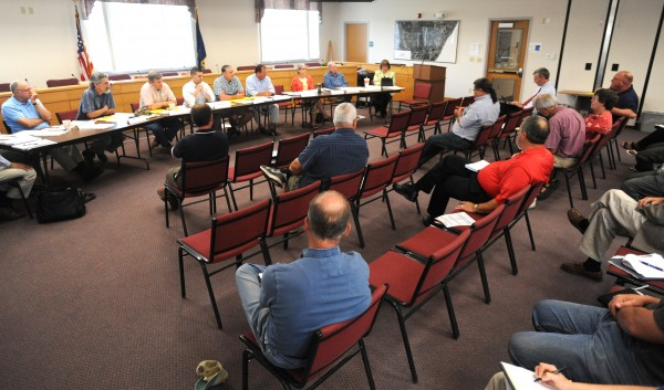 The Municipal Review Committee board meets at the Orono town office Wednesday.