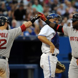 Napoli powers Red Sox past Blue Jays in Farrell's return to Toronto
