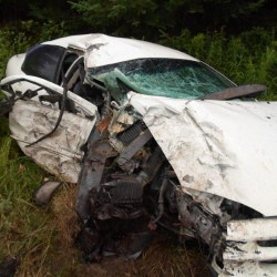 Frenchville man injured in accident that totals car