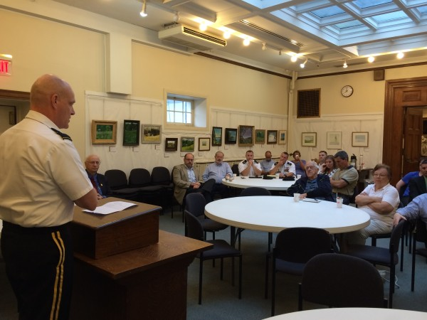Brig. Gen. James D. Campbell, adjutant general of the Maine National Guard, spoke at the July Bangor Foreign Policy Forum, held Wednesday at the Bangor Public Library.