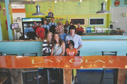 Matt and Julie Burke and their family have opened Las Olas Taqueria in Wells.