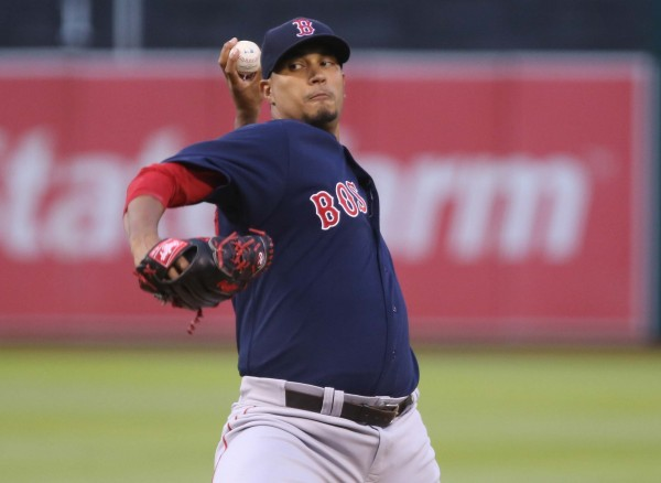 Boston's Felix Doubront pitches against the Oakland Athletics during the third inning at O.co Coliseum on June 20. The Red Sox traded Doubront to the Cubs Wednesday.