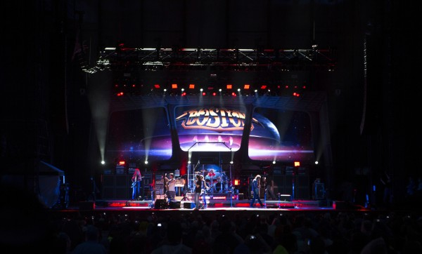 Boston preforms at the Wednesday concert at Darling's Waterfront Pavilion in Bangor.