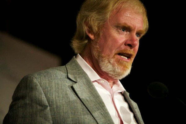 L. Brent Bozell III, founder and president of the Media Research Center, speaks at the Maine Heritage Policy Center's Freedom and Opportunity Luncheon in Portland on Tuesday.