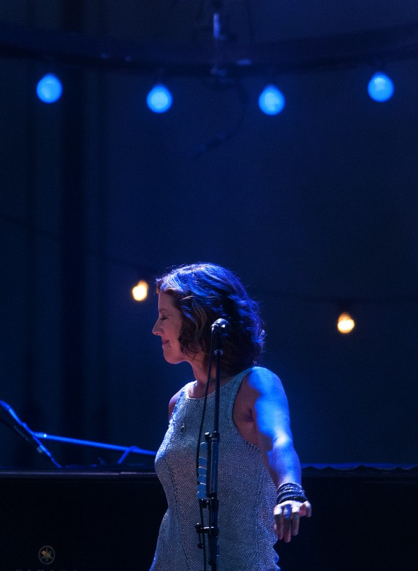 Sarah McLachlan feels the music during her show at the Darling's Waterfront Pavilion on Friday in Bangor