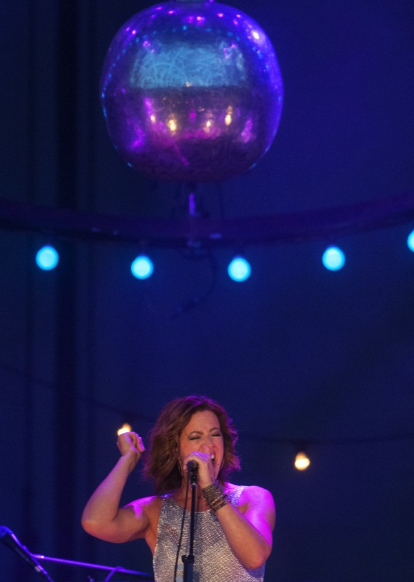 Sarah McLachlan hits the note during her show at the Darling's Waterfront Pavilion on Friday in Bangor.