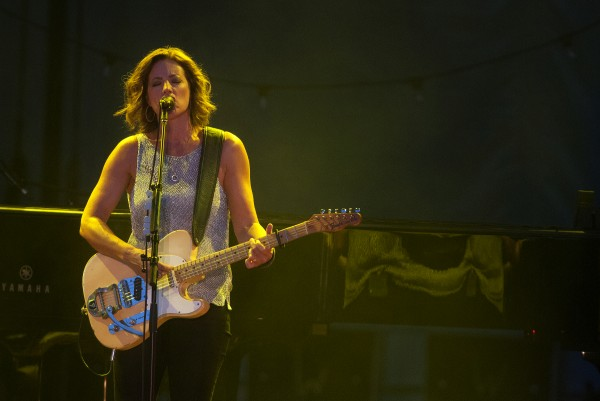 Sarah McLachlan performs during her show at the Darling's Waterfront Pavilion on Friday in Bangor.