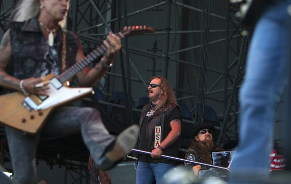 Lynyrd Skynyrd rocks out during the Bad Company and Lynyrd Skynyrd show at the Darling's Waterfront Pavilion in Bangor.
