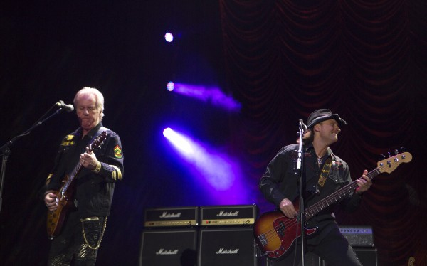 Bad Company's Howard Leese (left) and Todd Ronning play during the Bad Company and Lynyrd Skynyrd show at the Darling's Waterfront Pavilion in Bangor.