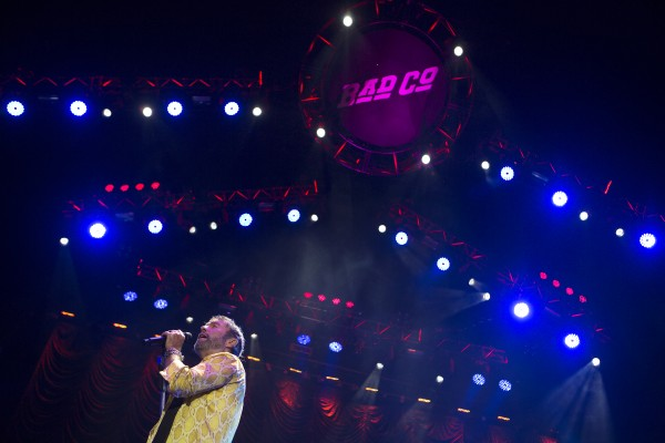 Bad Company's Paul Rodgers sings during the Bad Company and Lynyrd Skynyrd show at the Darling's Waterfront Pavilion in Bangor.