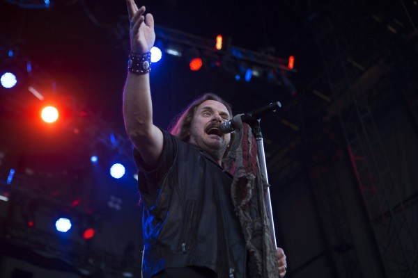Lynyrd Skynyrd's Johnny Van Zant sings during the Bad Company and Lynyrd Skynyrd show at the Darling's Waterfront Pavilion in Bangor.