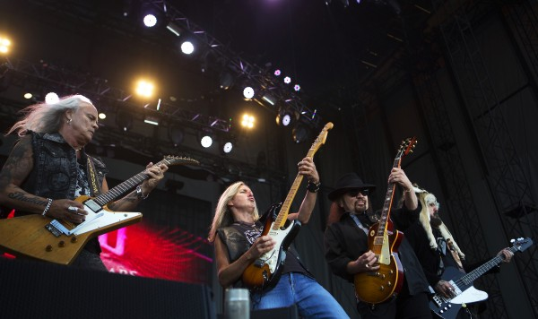 Lynyrd Skynyrd plays during the Bad Company and Lynyrd Skynyrd show at the Darling's Waterfront Pavilion in Bangor.