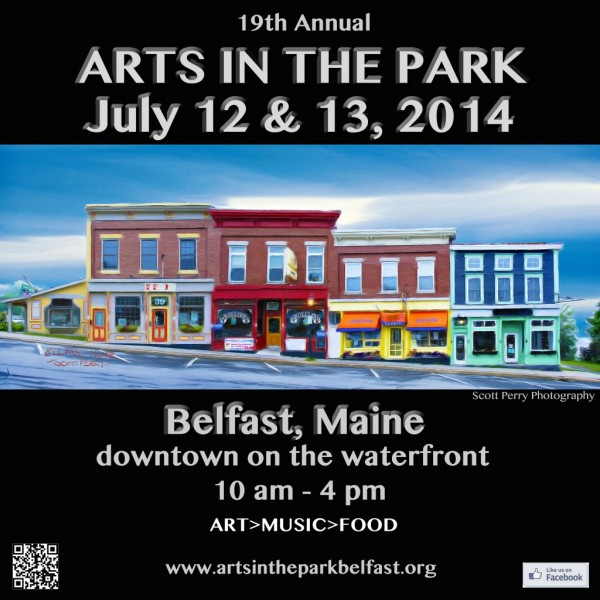 The poster for this year's Arts in the Park Belfast includes a photograph by the festival's &quotArtist of the Year,&quot Scott Perry of Farmington, Maine.