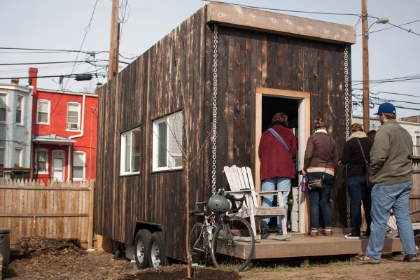 In Washington, D.C., Boneyard Studios showcases three tiny houses in a triangular alley lot, once filled by illegally parked cars.