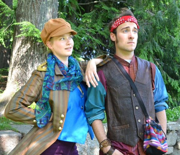 Keery Ipema as Rosalind and PJ Tighe as Orlando in &quotAs You Like It&quot
