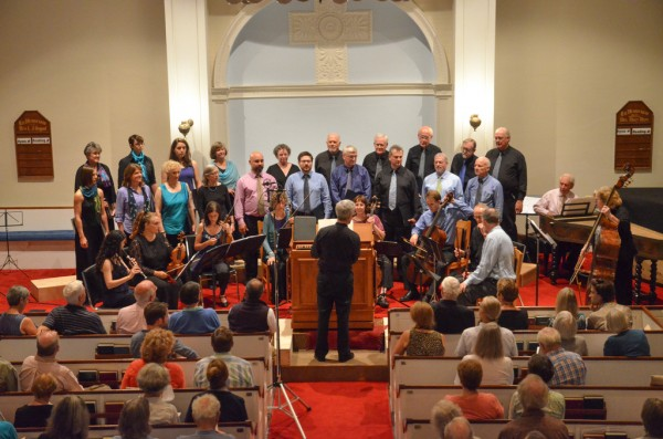Blue Hill Bach's orchestra and chorus of Baroque music specialists under the direction of John Finney.
