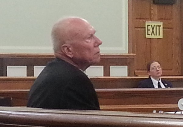 Charles Reed Black, a retired schoolteacher from Kansas, listens to opening arguments Tuesday at Knox County Superior Court in his trial for the attempted murder of his wife, Lisa Black.