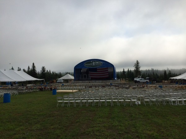 The Balsam Valley Amphitheater before the weather events of July 4.