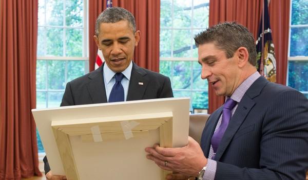President Obama and Inaugural Poet Richard Blanco