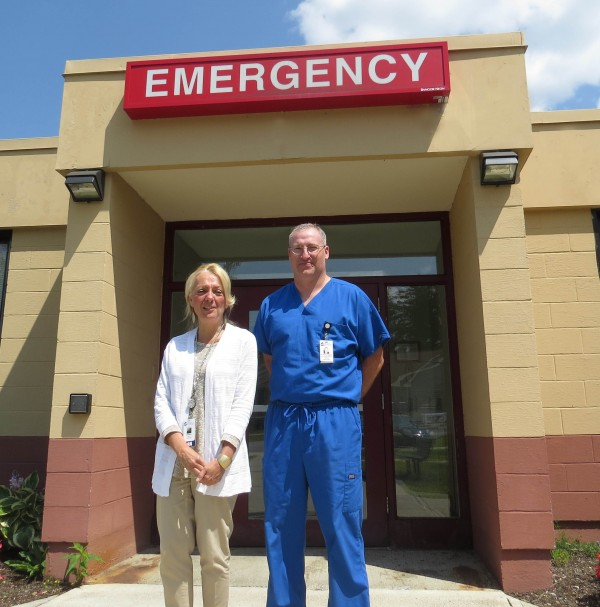 Chief Nursing Officer Charleen Ryan and Dr. Rodney Sparks