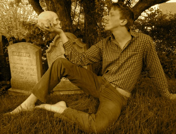 Hamlet communes with the skull of his old friend Yorick.