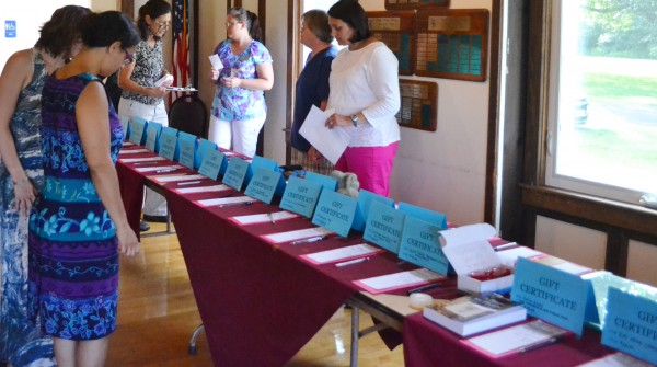 Many local businesses gave items or gift certificates for the silent auction.