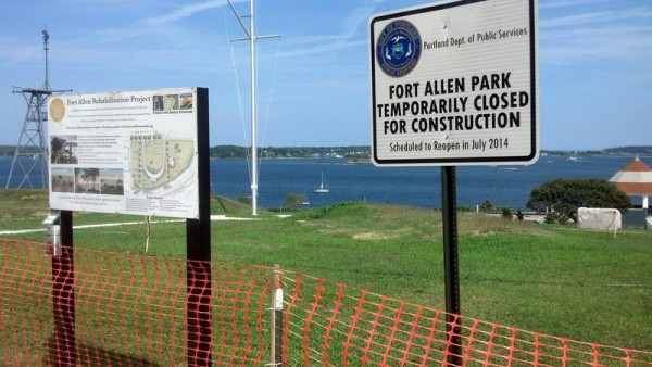 Fort Allen Park, on Portland's Eastern Promenade, has been closed since October while undergoing a $1.4 million restoration. The park is expected to re-open within the next few weeks.