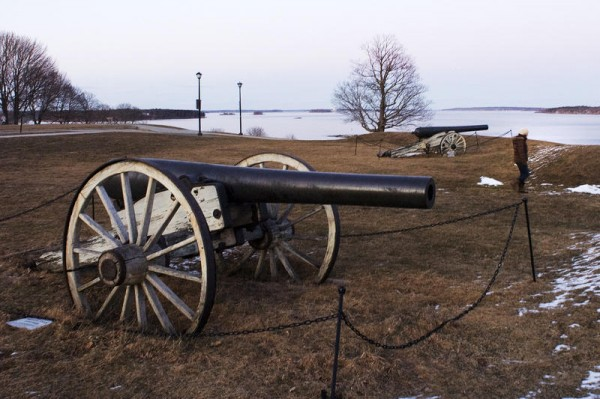 Fort Allen Park's two Civil War cannons, installed during the early 1900s, are now being refurbished – and may be re-installed before the fort's bicentennial celebration in September.