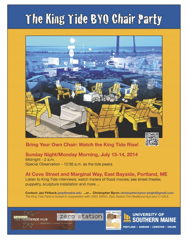 The King Tide BYO Chair Party poster