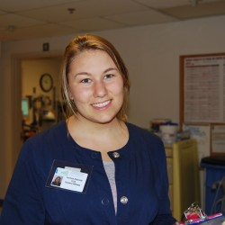 Linnea Harrold '15, the program's first intern, began her 10-week experience June 16. Harrold, of Sutton Mills, N.H., observes MDI Hospital physicians and nurse practitioners across a variety of specialties, and has the opportunity to discuss patient encounters on a daily basis. She meets weekly to evaluate and discuss her experience with Dr. Edward Gilmore, MD, MACP, a cardiologist and director of the program; and Betsy Corrigan, nurse educator.
