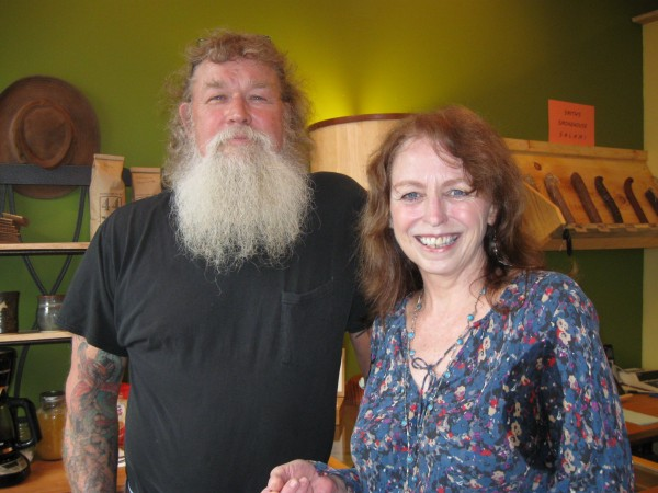 Stuart White of Winterport and Sherry Sullivan of Stockton Springs opened White's Farm Mercantile on May 18 at 181 Main St. in Stockton Springs. The store offers an eclectic blend of White's woodworking art, Sullivan's paintings and other goods and food products sourced mostly within a 20-mile radius of the store.