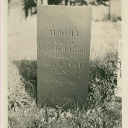 Gravestone of Mima Robbins Adams, one of the sites visited on the Come Spring Tour