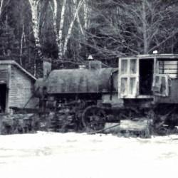 A 1910 Lombard Log Hauler awaits a miracle.