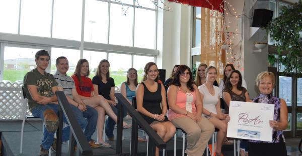 Happy Gauvin Scholars receive a round trip ticket from PenAir!