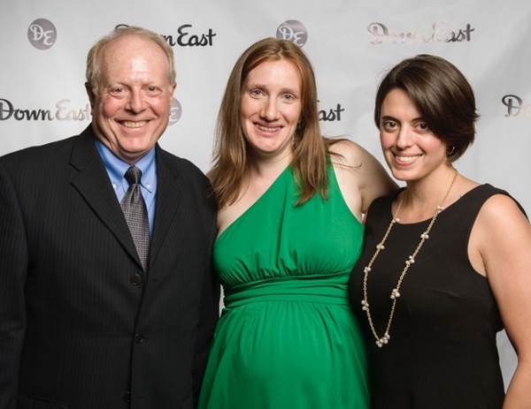 The Public Theatre's executive/artistic Director, Christopher Schario, with Down East Editor-in-Chief Kathleen Fleury, and Paige Holmes, development director of The Public Theatre, at the 2014 Down East Best Of Maine reception.