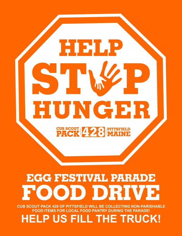 Help Stop Hunger Food Drive  -During Egg Festival Parade