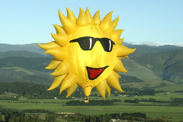 Sunny Boy will delight visitors at the Great Falls Balloon Festival in Lewiston/Auburn, Maine, August 15–17, 2014.