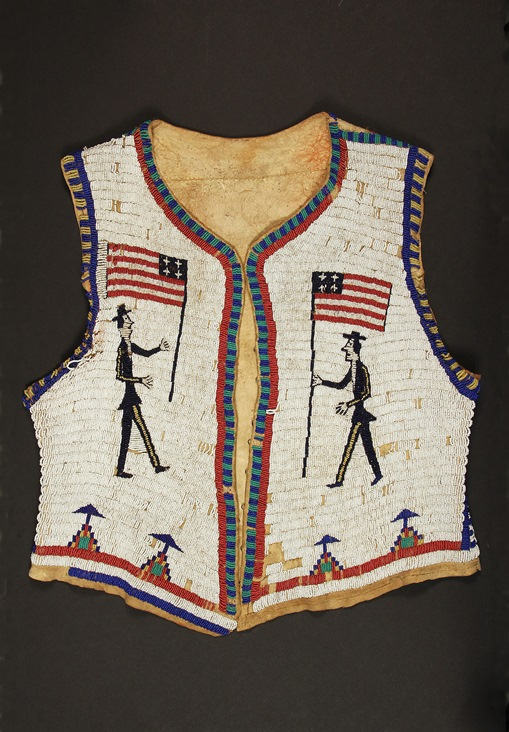 Circa 1890-1910 Sioux beaded deer hide pictorial vest, one of over 1,100 lots of fine art and antiques to be sold at Thomaston Place Auction Galleries on August 23 & 24