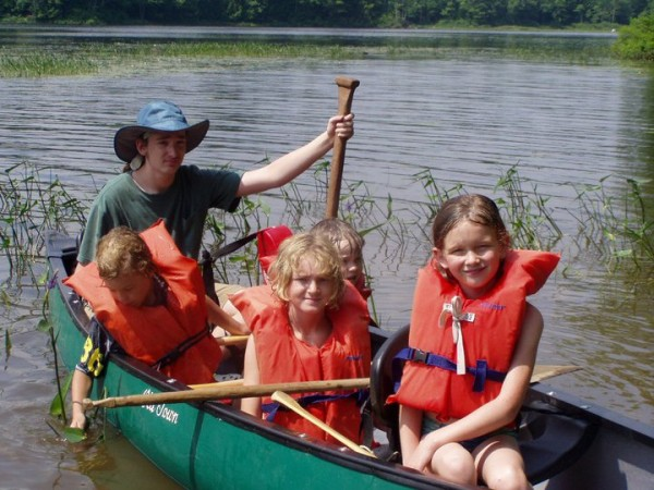 Camp Forest campers enjoy Maine's outdoors and learn survival skills.