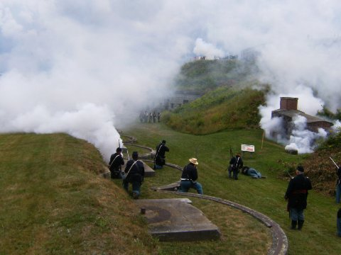 Civil War Reenactment at Fort Knox