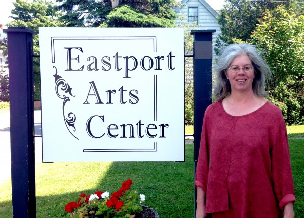 Standing in front of the Eastport Arts Center