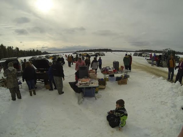 Baileyville Police Chief Bob Fitzsimmons helped plan a day of ice fishing on Pocomoonshine Lake in Princeton during the winter. The event attracted more than 250 people.