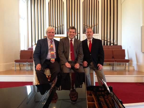 Anthony Antolini, pianist; Sean Fleming, organist and pianist; and John David Adams, bass-baritone.